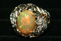 HUGE 5.44ct REGAL ETHIOPIAN OVAL CABOCHON RING