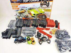 scalextric SOBA Top Turbo Police Chase Radio Control RC Slot Car Drift Set UK
