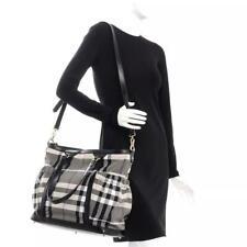 Burberry Tote Nova Check Black Canvas Diaper Bag & New Changing Mat