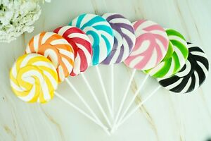 Rainbow & Unicorn Lollipops Rock Candy Lollies Sweets Baby Shower Party Favour