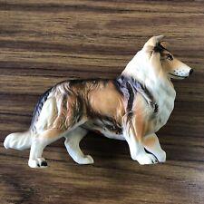 Lefton Lassie Rough Collie Porcelain Dog Statue Figure Collectible