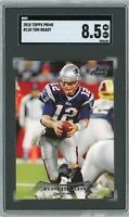 2010 Topps Prime #130 Tom Brady SGC 8.5 Graded Football Card GOAT