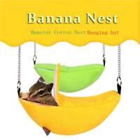Niedliche Bananenform gelbgrüne Hängematte kleines Nagetiernest warm und bequem0