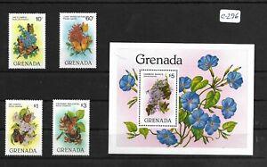 SMT 127, Grenada, souvenir sheet and set of 4 stamps, MNH, RRR
