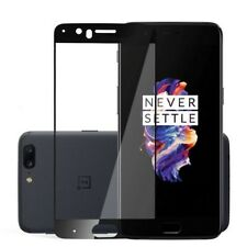 PROTECTOR PARA ONEPLUS 5 CRISTAL COMPLETO CUBRE TODO / ONE PLUS 5 NEGRO