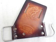 Webber Fishing Rod Holster Bait Caster/Spinning/Fly Rod Holder  Leather Cowhide