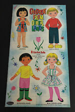 Vintage 1961 Children from Other Lands Paper Doll Booklet Whitman Unused