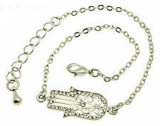 Hamsa Silver Bracelet Evil Eye Kabbalah Hand Of Fatima Judaica Friendship Charm