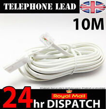 Telephone Extension Cable Lead Cord For All Phone Lines BT Sky UK 10 M Cable