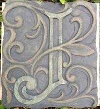 J Stone, plaque, stepping stone,  plastic mold, concrete mold, cement, plaster