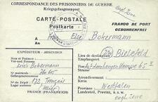 POW Camp 132 Tronçais France 1947 German Prisoner of War Kriegsgefangenenpost 22