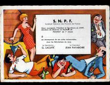 SYNDICAT NATIONAL DES POIVROTS DE FRANCE / CAVE à VINS illustrée Humour
