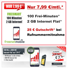 Handyvertrag mit 100 Freiminuten 2 GB Internet Flat Simkarte Vertrag ohne Handy
