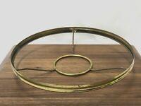 """Vtg 10"""" Fitter Glass Shade Holder Frame Brass Ring Oil Kerosene Lamp Burner3 1/8"""