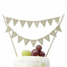 Ginger Ray Rustic Vintage Affair Wedding Cake with Bunting Flags