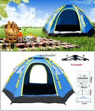 Waterproof Camping Hiking 6 Person Automatic Setup Pop Up Family Dome Tent CLSV