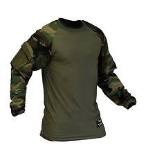 Valken V-Tac Zulu Tactical Paintball Jersey Combat Shirt Woodland 3XL 3X-Large