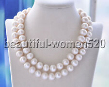 Z8689 15mm White ROUND Freshwater cultured PEARL NECKLACE 33inch