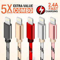 5X 1M 2M Apple iPhone 8 7 6 6S X 11 Pro XS Max XR Fast Charging Charger Cable