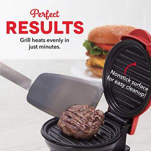 Mini Portable Grill & Panini Press Maker for Burgers, Sandwiches, Chicken
