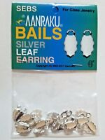 24 QTY - EARRING SILVER Plated **AUTHENTIC AANRAKU** Bails Glass Pendant Jewelry