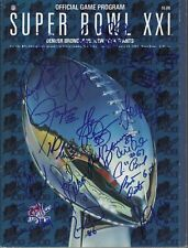 1987 NY GIANTS signed TAYLOR, WILLIAMS, REASONS+16 SuperBowl21 Program AUTHENTIC