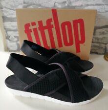 Fitflop Women's Airmesh Open Toe Sandals Black Size 7 (EU 40) BNIB