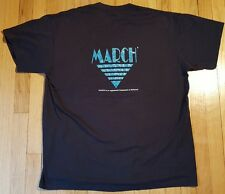 Vintage 80s March BELLCORE shirt XL 50/50 black Bell AT&T communication Duke