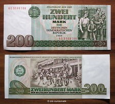 DDR 200 mark 1985 (Ro. 364a) *** original billete, presión frescos UNC.!