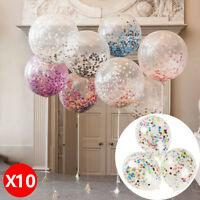 "10X 12"" Confetti Latex Balloons Wedding Birthday Party Baby  Shower Decorations"