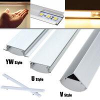 30/50cm U/V/YW Aluminum Case Shell Lait Profil Couverture Pour Rigide LED Bande