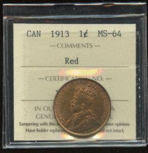 1913 Canada Large Cent - ICCS MS-64 - XVZ655