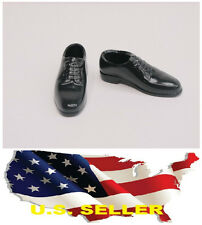 """❶1/6 Scale Black cap toe dress shoes for 12"""" male Figure hot toys SHIP FROM US❶"""