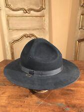 Vintage Trooper sombrero de fieltro de policía estatal MASS 100% Lana De  Gran Tamaño 3ce1989aace