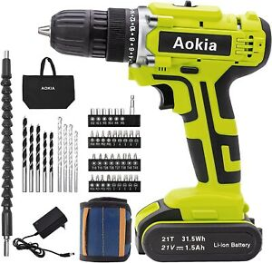 Power Drill Set - Cordless Rechargeable 21V