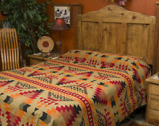 Western Indian Design Blanket Bedspread -Pueblo Queen