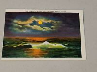 Vintage Postcard - The Ocean By Night Old Orchard Beach Maine ME Unposted #737