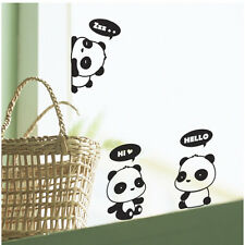 3Pcs Mignon Panda Animal commutateur de lumière mur autocollant de rappel mode