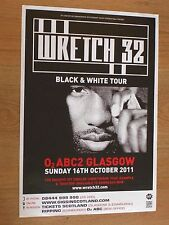 Wretch 32 - Glasgow oct.2011 tour concert gig poster
