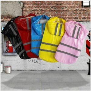 French Bulldog Corgi Teddy Raincoat Jumper Waterproof Outdoor Reflective Cloths