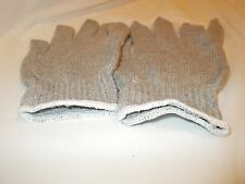 6  PAIRS  OF  100%   COTTON  KNIT  WORK  GLOVES    *LARGE*