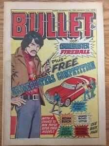 Bullet #109 11/3/78 Fireball, Steelback, Twisty, DC Thompson UK Comic