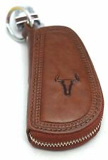Universal Car Smart Key Chain Leather Holder Cover Case Purse Bag Fob Remote-608