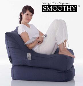 Original Smoothy © Luxus Sitzsack Lounge Chair Folder Sessel Chaiselongue
