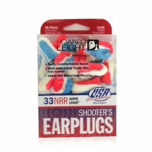 Howard Leight USA Shooters Ear Plugs 10 Pair USA R-01891