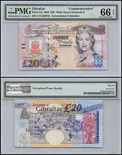 Gibraltar 20 Pounds, 2004, P-31a,UNC,Commemorative,Queen Elizabeth II,PMG 66 EPQ