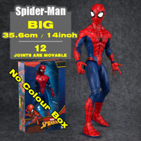 14in Marvel Spider man Big Heroes Avengers Kid Legends Action Figure Comic Toy