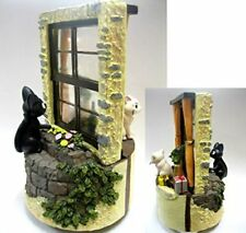 Kiki's Delivery Service Jiji & Lily Cats Music Box Studio Ghibli Japan Rare USED