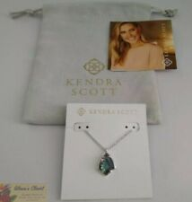 Kendra Scott Cory Pendant Necklace in Abalone and Rhodium Plated