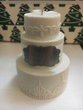 mariage porcelaine gâteau 2015 Noël Hallmark souvenir Ornement Neuf en boîte
